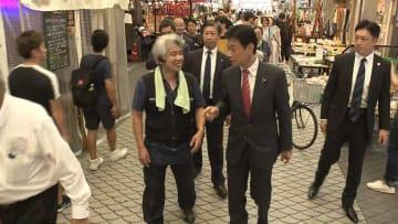 地元・明石を訪れた西村康稔経済再生相