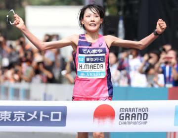 女子で優勝し、五輪代表を決めた前田(撮影・浜岡学)