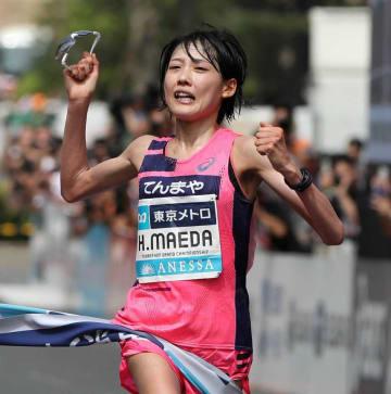 女子1位となり、東京五輪代表を決めた前田(東京・明治神宮外苑)