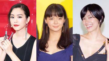 (左から)桐谷美玲さん、多部未華子さん、森星さん