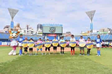 DeNAは15日、ドッジボールイベント「場マスタBAYドッジ2019」を初開催した【写真提供:横浜DeNAベイスターズ】