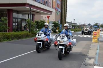 過去の秋の全国交通安全運動出発式 クラシックカーパレード 埼玉アリオ鷲宮(参考画像)