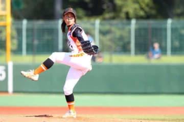完投勝利を挙げた埼玉アストライア・磯崎由加里【写真提供:日本女子プロ野球リーグ】