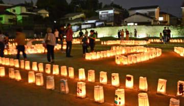 水城に幽玄なともしび 灯明イベントに計2700個