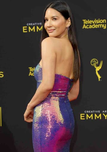 Olivia Munn attends Day 2 of the Creative Arts Emmys in Los Angeles, California. (Adriana M. Barraza/WENN.com)