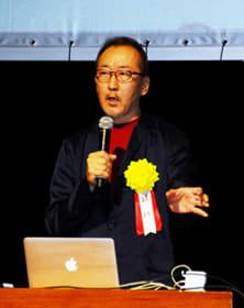 進化するAIをテーマに講演した竹内氏