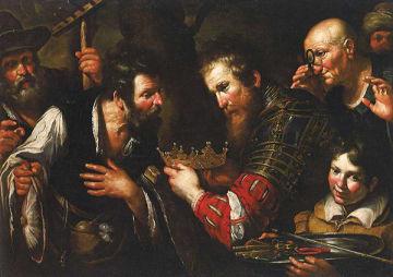 ▲ベルナルド・ストロッツィ アブドロミノに奪われた王位を返還するアレキサンドロス大王 1615-17年