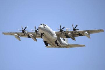 米軍のKC130空中給油機=2014年