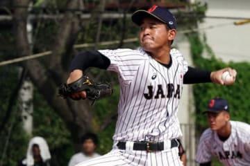 日本代表としてU18W杯にも出場した興南・宮城大弥【写真:荒川祐史】