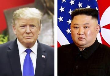 トランプ米大統領(左)、北朝鮮の金正恩朝鮮労働党委員長(いずれもAP=共同)
