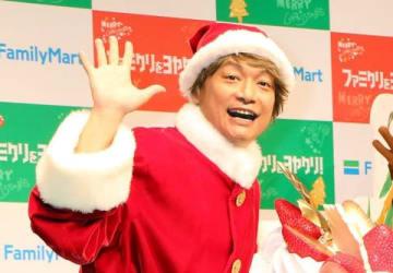 ファミリーマートのイベント「ファミクリをヨヤクリ!クリスマスイベント」に出席した香取慎吾さん