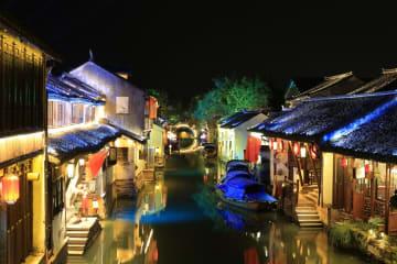 ナイトタイムエコノミー探求する「中国第一の水郷」 江蘇省周荘