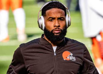 Odell Beckham Jr. with the Cleveland Browns in 2019 (Erik Drost/Wikipedia)