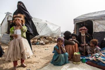 2015年からダーダ避難民キャンプに暮らす一家=2019年4月 ©Agnes Varraine-Leca/MSF
