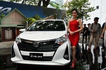 PT Toyota-Astra Motor unveils the new Calya at a launch event in South Jakarta on Sept. 16.