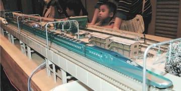 鉄道フェスタで披露された「ALFA-X」の模型