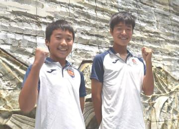 UAEの養成機関に入った若林(右)と冨永
