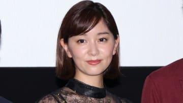 映画「初恋ロスタイム」の完成披露上映会に登場した石橋杏奈さん