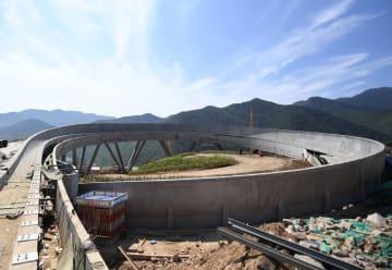 中国初のそり競技コース、本体構造が完成 北京市延慶区