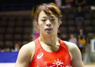 準決勝で勝ち、東京五輪代表を内定した川井梨紗子(資料写真)