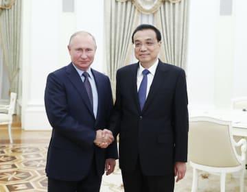 李克強総理、ロシアのプーチン大統領と会見