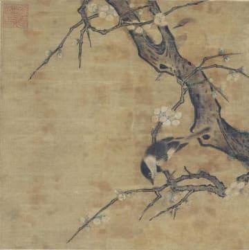 「重要文化財 伝・馬麟『梅花小禽図』」<中国・南宋時代(13世紀)、五島美術館蔵>左上に足利義政の印が押された「東山御物」。狩野派が鑑定した(展示は10月1~20日)