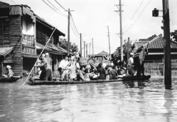 <あのころ>カスリーン台風で大洪水