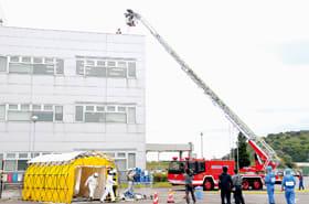 地震を想定した対応を確認したPCB廃棄物処理施設防災訓練