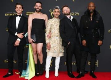 クリエイティブ・アーツ・エミー賞の授賞式にて 「クィア・アイ」ファブ5のメンバー - Paul Archuleta / FilmMagic / Getty Images