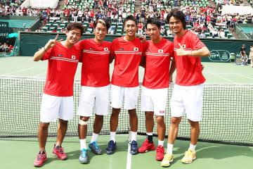 2016年「デビスカップ」での日本チーム