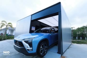 A Nio's battery swap station located at a highway service area in Tunchang County in the southern island province of Hainan. (Image credit: Nio)