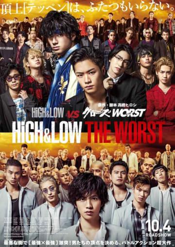 (C) 2019「HiGH&LOW THE WORST」製作委員会 (C) 高橋ヒロシ(秋田書店)  HI-AX