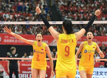中国、日本に勝利 女子バレーW杯1次リーグ