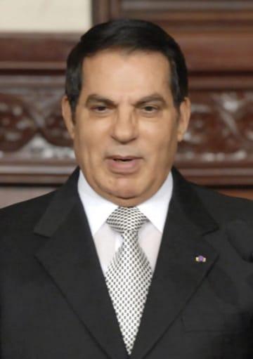 チュニジアのベンアリ元大統領(AP=共同)