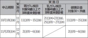 保健センター10月のお知らせ(2)
