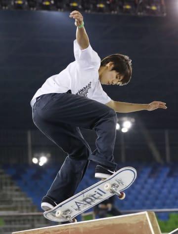 スケートボード・ストリートの世界選手権に向け、調整する堀米雄斗=サンパウロ(共同)