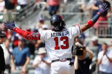 40号本塁打を放ったブレーブスのロナルド・アクーニャJr.【写真:Getty Images】