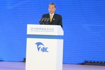 「2019世界製造業大会」開幕 鳩山元首相がスピーチ