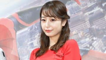 映画「スパイダーマン:ファー・フロム・ホーム」のブルーレイディスク&DVD大ヒット祈願イベントに登場した宇垣美里さん