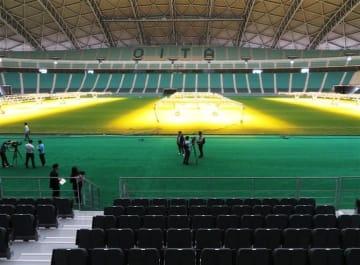 ハイブリッド芝や可動席 ラグビーW杯会場整備完了 昭和電工ドーム大分
