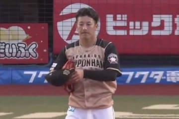 2回途中降板となった日本ハム・吉田輝星【画像:パーソル パ・リーグTV】