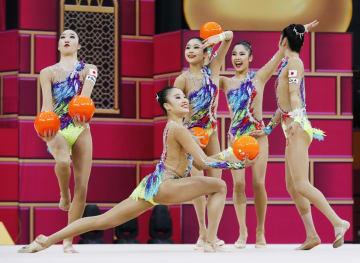 新体操、日本が種目別ボールで金 世界選手権、団体で初 画像