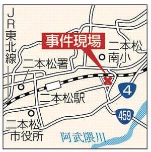 事件現場の地図