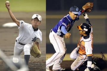 小松島高校時代と、徳島インディゴソックス時代の増田
