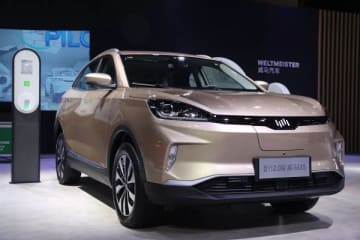 WM Motor showcased an updated version of its EX5 SUV in a trade event in Chengdu in September 2019. (Image credit: WM Motor)