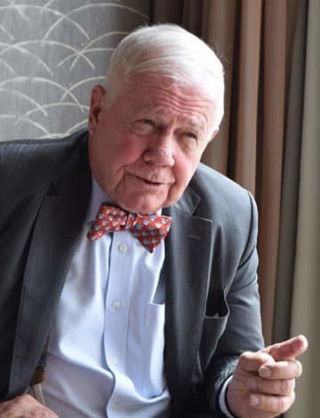 U.S. investor Jim Rogers speaks in an exclusive interview with NNA in Tokyo on Sept. 12, 2019.
