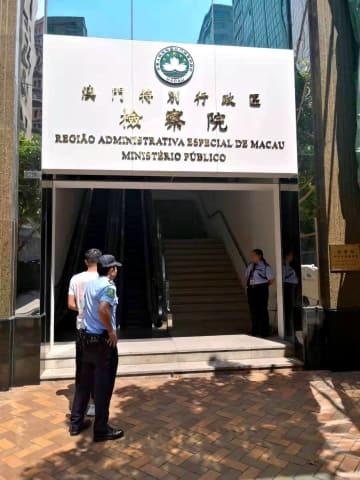 セクシャルハラスメント罪で送検される中国本土出身の男子大学生(写真:マカオ治安警察局)