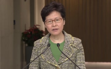 Carrie Lam. Photo: i-Cable screenshot.