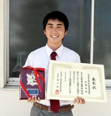 機械製図検定試験で全国トップとなった宮田さん