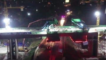 ジャカルタ・バンドン高速鉄道、初の連続梁接続が無事完了 インドネシア